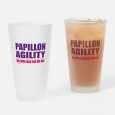Papillon Agility Drinking Glass