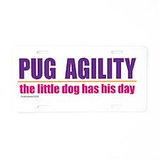 Pug Agility Aluminum License Plate