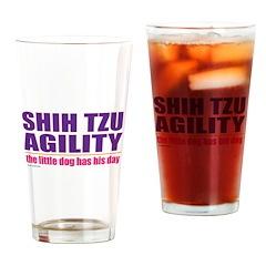 Shih Tzu Agility Drinking Glass