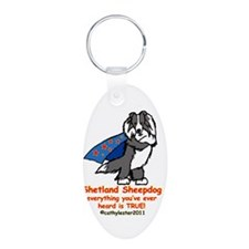 Black Super Sheltie Keychains