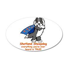 Black Super Sheltie 22x14 Oval Wall Peel