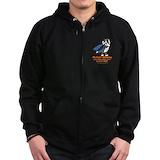 Bi black sheltie Zip Hoodie (dark)