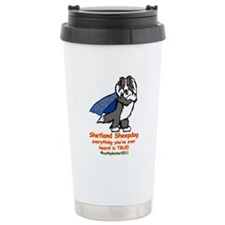 Black Super Sheltie Travel Mug