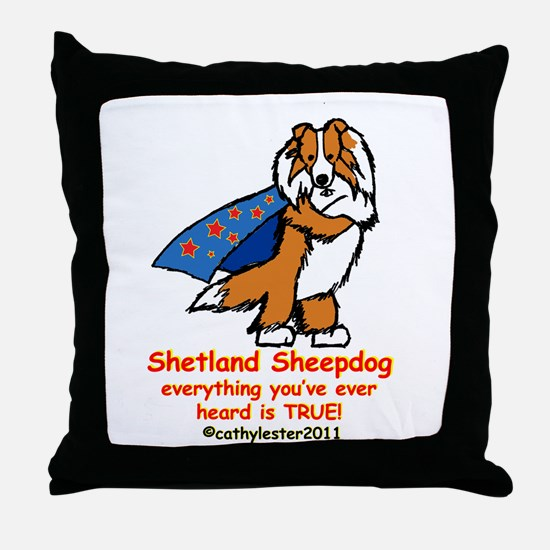 Sable Super Sheltie Throw Pillow