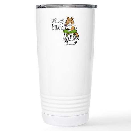 Winey Bitch Sheltie Stainless Steel Travel Mug