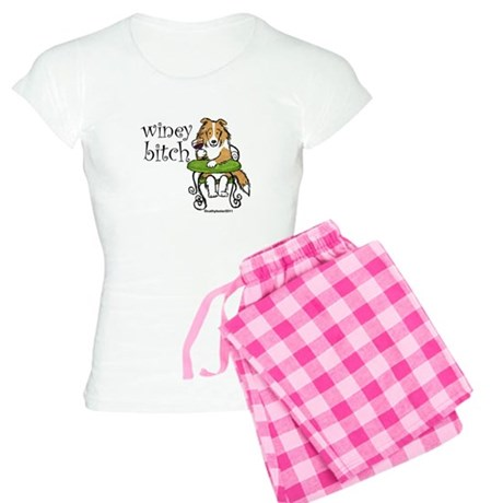 Winey Bitch Sheltie Women's Light Pajamas