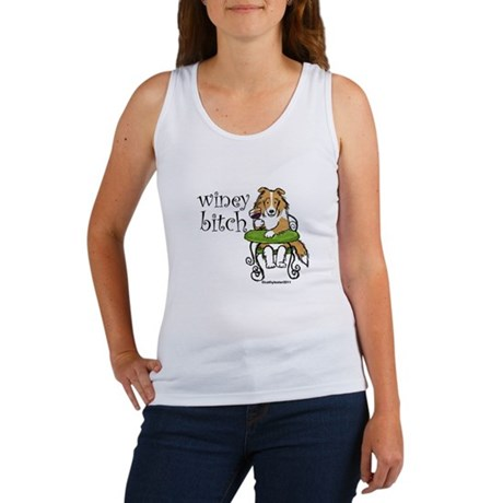 Winey Bitch Sheltie Women's Tank Top