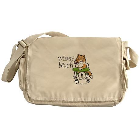 Winey Bitch Sheltie Messenger Bag