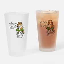 Winey Bitch Sheltie Drinking Glass