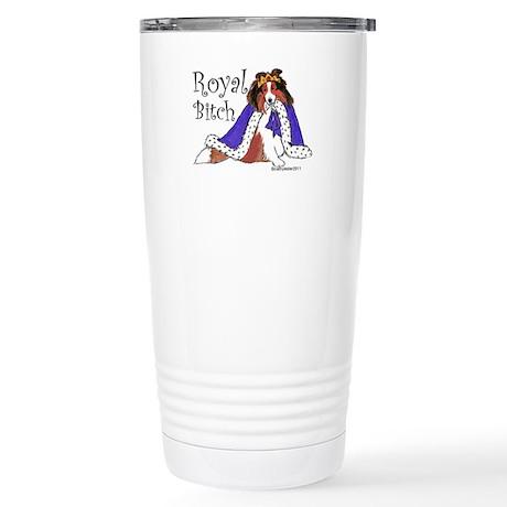 Royal Bitch Sheltie Stainless Steel Travel Mug