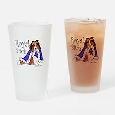 Royal Bitch Sheltie Drinking Glass