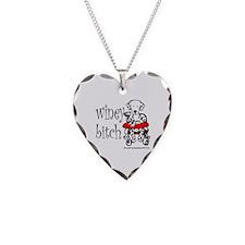 Winey Dalmatian Necklace Heart Charm
