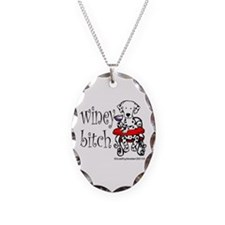 Winey Dalmatian Necklace Oval Charm