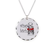 Winey Dalmatian Necklace Circle Charm