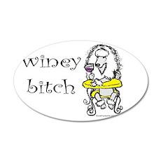 Winey Bitch Poodle 22x14 Oval Wall Peel