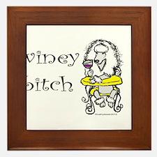 Winey Bitch Poodle Framed Tile