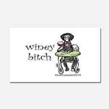 Winey Bitch Curly Car Magnet 20 x 12