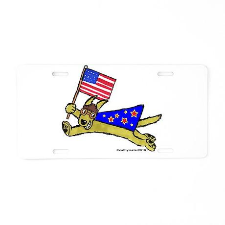 All American Super Doggie Fla Aluminum License Pla