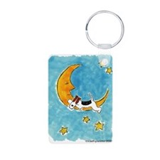 Wire Fox Terrier/Moon Keychains