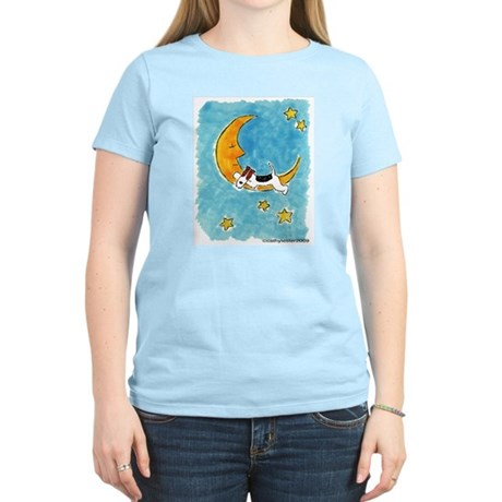 Wire Fox Terrier/Moon Women's Light T-Shirt