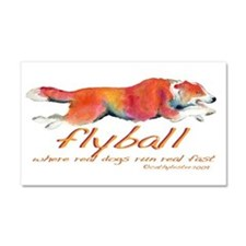 Real dogs Real fast Car Magnet 20 x 12