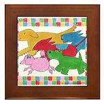 Herd 'o Dogs Framed Tile