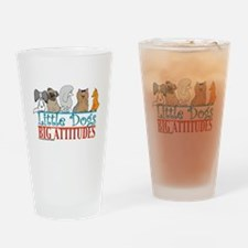Big Attitudes Drinking Glass