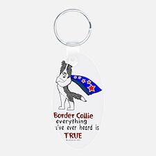 Blue Merle Super Border Colli Keychains