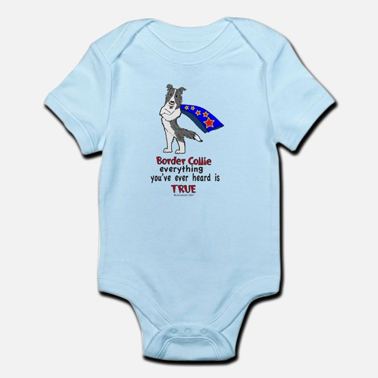 Blue Merle Super Border Colli Infant Bodysuit