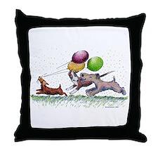 Dog Balloon Party Throw Pillow