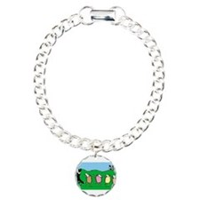 Border Collie Pied Piper Charm Bracelet, One Charm