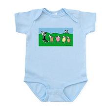 Border Collie Pied Piper Infant Bodysuit
