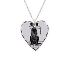 Curly-Coated Retriever with B Necklace