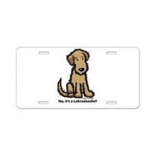 Labradoodle puppy Aluminum License Plate
