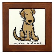 Labradoodle puppy Framed Tile