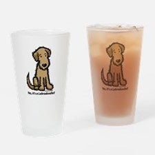 Labradoodle puppy Drinking Glass