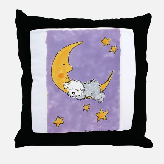 Baby puppy naps Throw Pillow