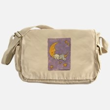 Baby puppy naps Messenger Bag
