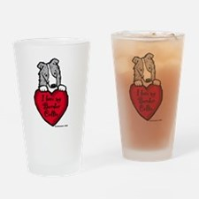Border Collie (blue merle) Lo Drinking Glass