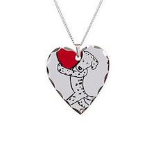Dalmatian Heart Necklace Heart Charm