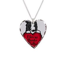 Border Collie (black) Love Necklace