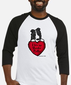 Border Collie (black) Love Baseball Jersey