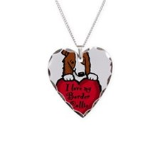 Border Collie (red) Love Necklace