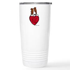 Border Collie (red) Love Travel Mug