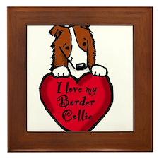 Border Collie (red) Love Framed Tile