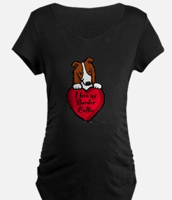 Border Collie (red) Love T-Shirt
