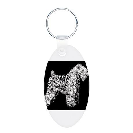 SCWT on black Aluminum Oval Keychain