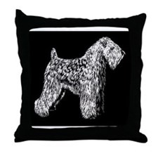 SCWT on black Throw Pillow