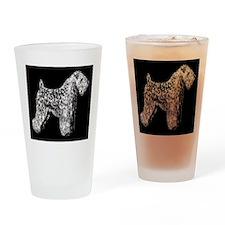 SCWT on black Drinking Glass