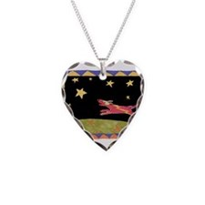Star Dog Necklace Heart Charm